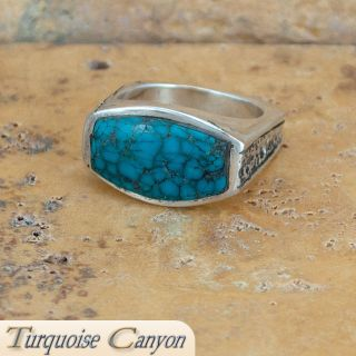 Native American Turquoise Ring Size 9 by Lee Epperson SKU 224529