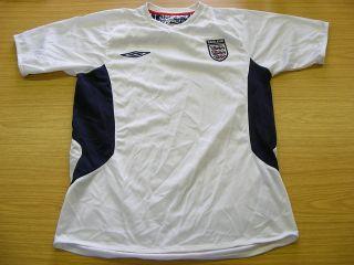 England Umbro White Football Soccer Training Shirt Jersey Top Small