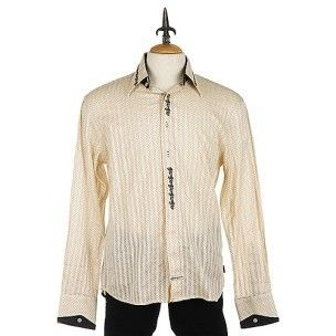 English Laundry Castle Industrial Longsleeve Shirt in Tan