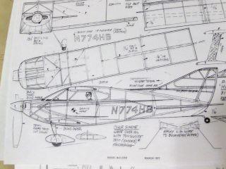 HIPERBIPE, RC ELECTRIC/ FF RUBBER model airplane plans.