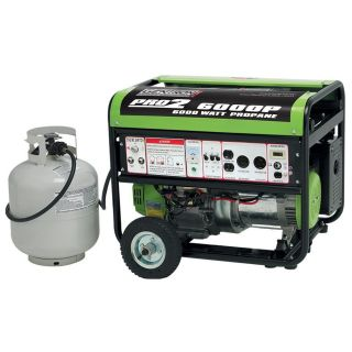 6000 Watt Portable Propane Generator Electric Start 5000 Running Watts