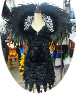 Evita Showgirl Drag Queen Feather Costume Backpack