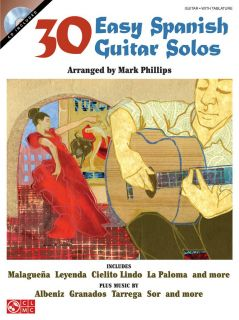 30 Easy Spanish Guitar Solos Book CD Easy Guitar Tab