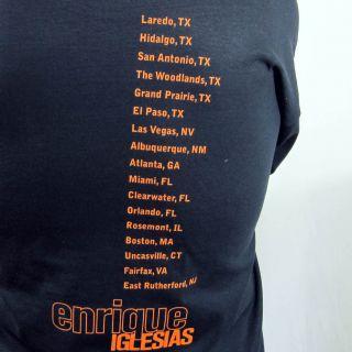 Enrique Iglesias Tour T Shirt Concert Tee Adult Mens Black Spanish