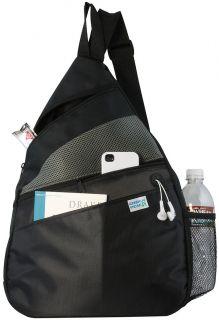 Ensign Peak Black Padded Sling Backpack