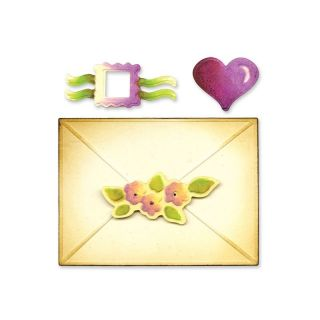 Sizzix Embosslits XL Die Envelope 2 D Seals 657754