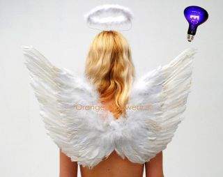 Sexy White Angel Acessories Halo Wings Halloween Costume Kit