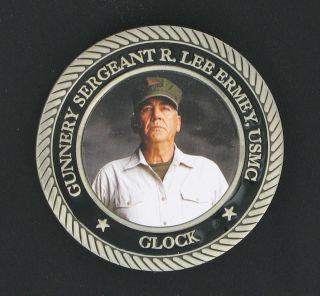 Lee Ermey Gunnery Sergeant Glock Challenge Coin