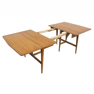 7ft Heywood Wakefield Drop Leaf Extension Dining Table