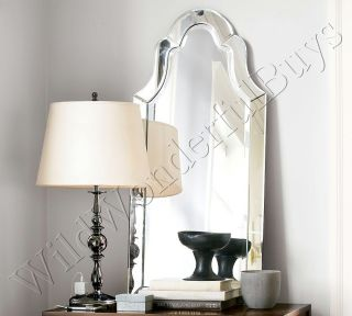 Frameless Elise Wall Mirror Beveled Arched 42 Arch LG
