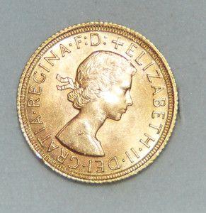 1964 Full Sovereign Elizabeth II British Gold Coin MS++