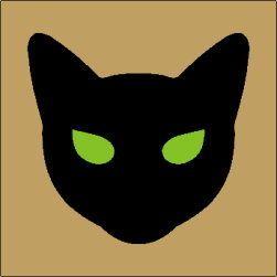 Primitive Topper Stencil Black Cat Face Halloween Fun Party Blocks