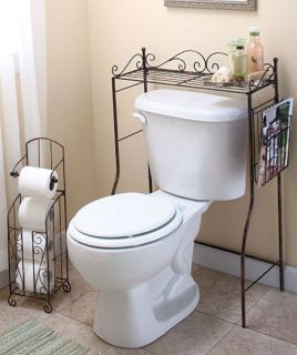 Savers Bath Accessory Set Toilet Paper Holder Stand Metal New