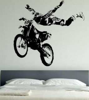 Cross Giant Wall Art Stickers Motor Bike WA161 Extreme Sports