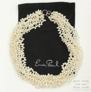 Erwin Pearl White Freshwater Pearl Multi Strand Necklace