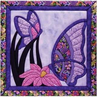 108 7276 butterfly quilt magic no sew wall hanging kit rating be the