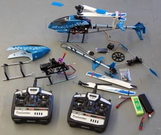 Esky 2.4G Honey Bee King 3 RC HELICOPTER RTF #000016 + 2 6ch Remotes