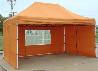 10x15 Pop Up Canopy Party Tent Gazebo EZ Brunt Orange