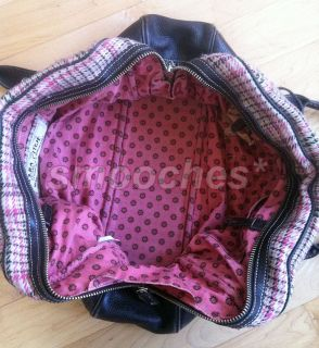 Abercrombie Ezra Fitch Weekender Plaid Travel Tote Bag Handbag Purse
