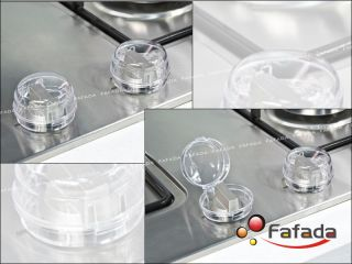 Fabe 4 Pcs Baby Safety Stove Knob Cover Lock Guard Gas Fuel Knob Cover
