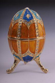 Faberge Easter Egg music box by Keren Kopal Swarovski Crystal Jewelry