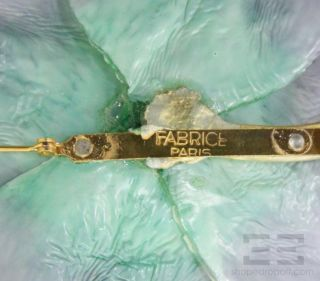 Fabrice Paris Purple & Teal Large Flower Brooch
