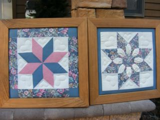Beautiful Framed Handmade Quilt Squares from Lancaster PA