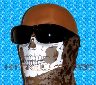 Velcro Skull Bandana Face Neck Mask Camo Ski Bow Deer Hunter Hunting