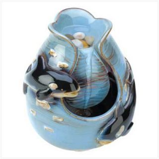 Falling Waters Indoor Table Shelf Fountain Porcelain