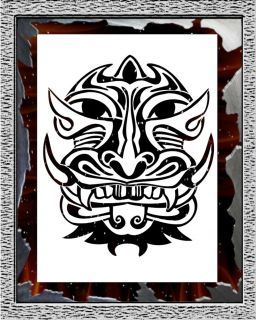 Face Airbrush Stencil Template Design Paint Hobby Artwork Tattoo Shirt