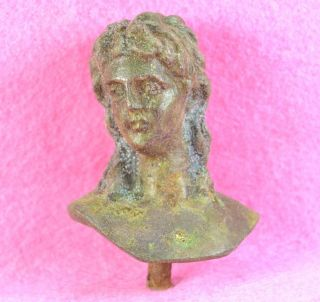 Greco Roman Bronze Bust of Eros Cupid God of Love and Attraction