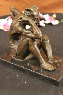 Great Erotic Art Nouveau Bronze Faun Satyr Austrian Vienna Bergman