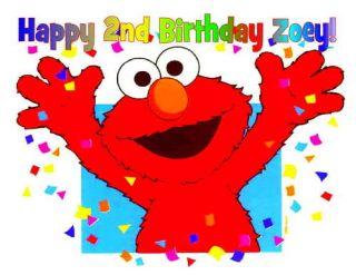 Elmo Edible Birthday Cake Image Topper Decoration