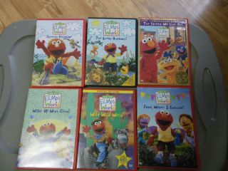 Sesame Street Elmos World Lot of 6 DVDs Includes Bonus CD Sampler