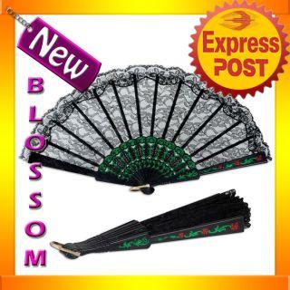 Lace Folding Fan Spanish Senorita Flamenco Fiesta Costume Accessories
