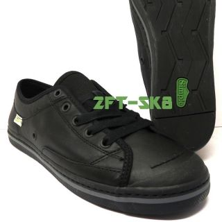 Simple Take on Leather Black Black Mens Casual Shoes Size 9 12 ST4612