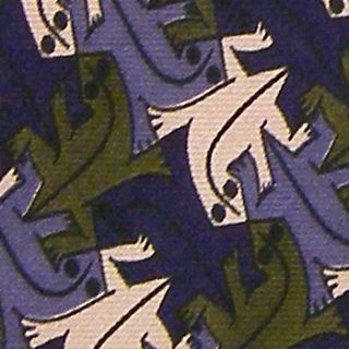 Boxelder Lizards MC Escher Lizard Purple Silk Neck Tie