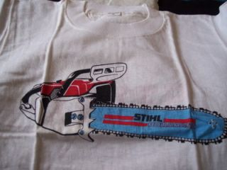 Stihl Chainsaw Old Logo T Shirt Promotional Advertising Sign Chain Saw