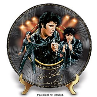 Elvis Presley 68 Comeback Special Porcelain Collector Plate