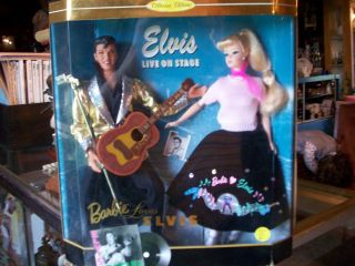 Elvis Presley With Barbie Collectors Edition 1996 Gift Loves Elvis