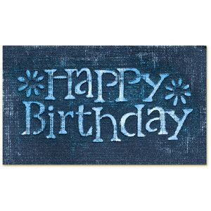 Sizzix Simple Impressions Embossing Folder   Phrase, Happy Birthday