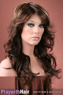 Super Hot Retro Styled Farrah Wig Brown Blonde Chunks