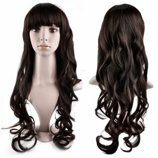 Fashion Long Wavy Curly Hair Womens Full Wig Wigs New
