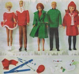 Vintage Ribbon Dress Blouse Fashion Doll Clothes Knitting Crochet