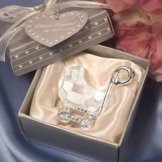 40 Crystal Baby Carriage Baby Shower Favors