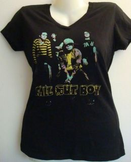 Fall Out Boy Black Shirt Top Misses Medium