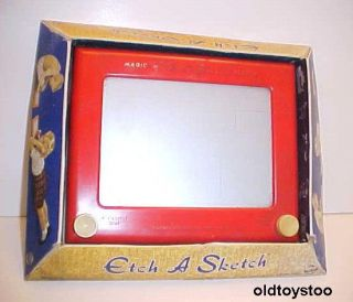 ETCH A SKETCH BY OHIO ART No 505 WITH DISPLAY BOX MADE IN USA