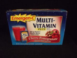 Emergen C Multi Vitamin Plus Cherry Pomegranate Flavor Fizzy Drink Mix