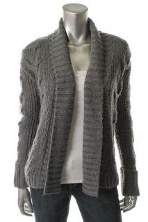 Famous Catalog Moda Gray Cable Knit Shawl Collar Bed Jacket Cardigan