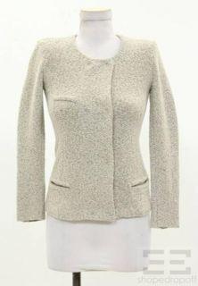 Etoile Isabel Marant Grey Boucle Wool Snap Jacket Size 1